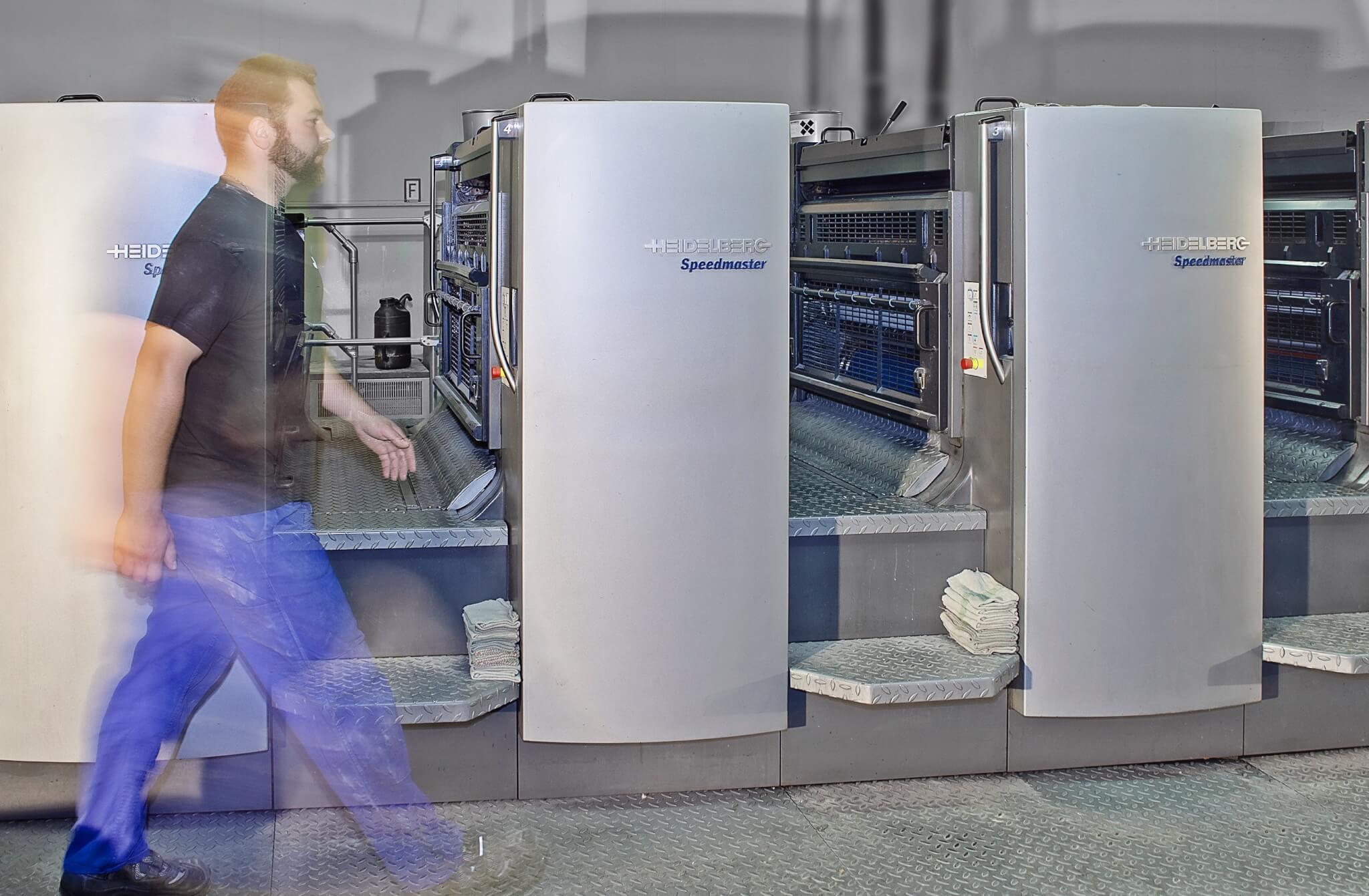 5-Farben Speedmaster CD 102 5 + Lack von Heidelberg, Druckmaschine für Akzidenzdruck Verpackungsdruck und Etikettendruck